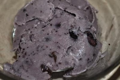 This is How My Blueberry Cheesecake Ice Cream Looked Like When I Last Made It