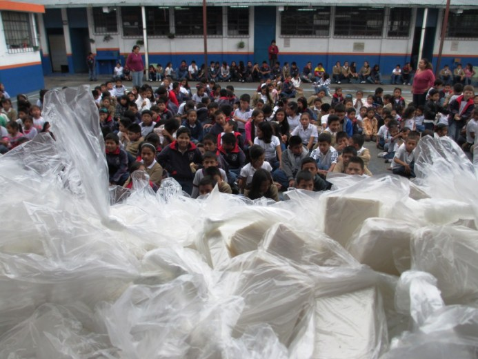 Recycled Used Hotel Soap Being Distributed to School Kids in Guatemala with Clean the World and Children International, May 2014