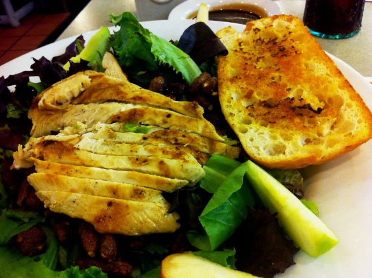 This is Denny's Cranberry Apple Chicken Salad and it Hit the Spot.