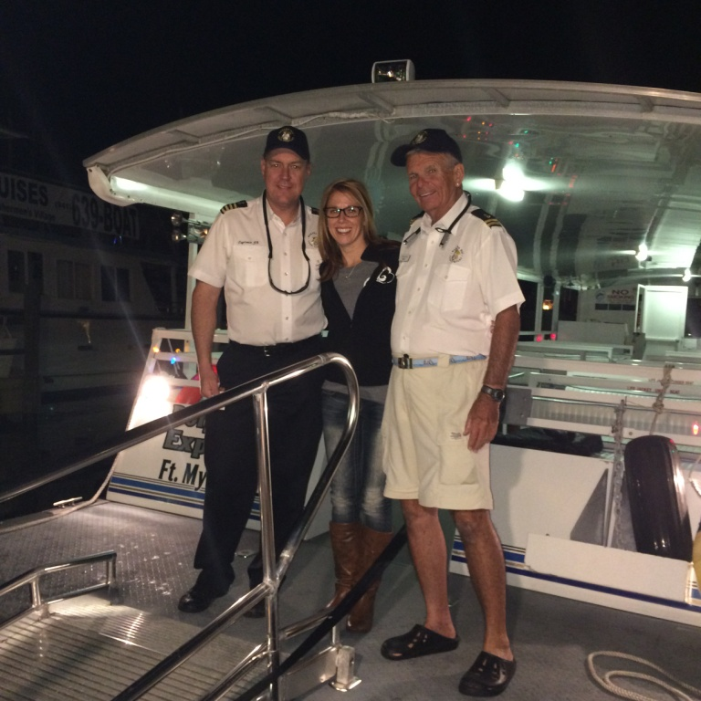 Hanging with the Crew of the Banana Bay Tour Company. This is Capt. JT, Sherri and First Mate Andy.