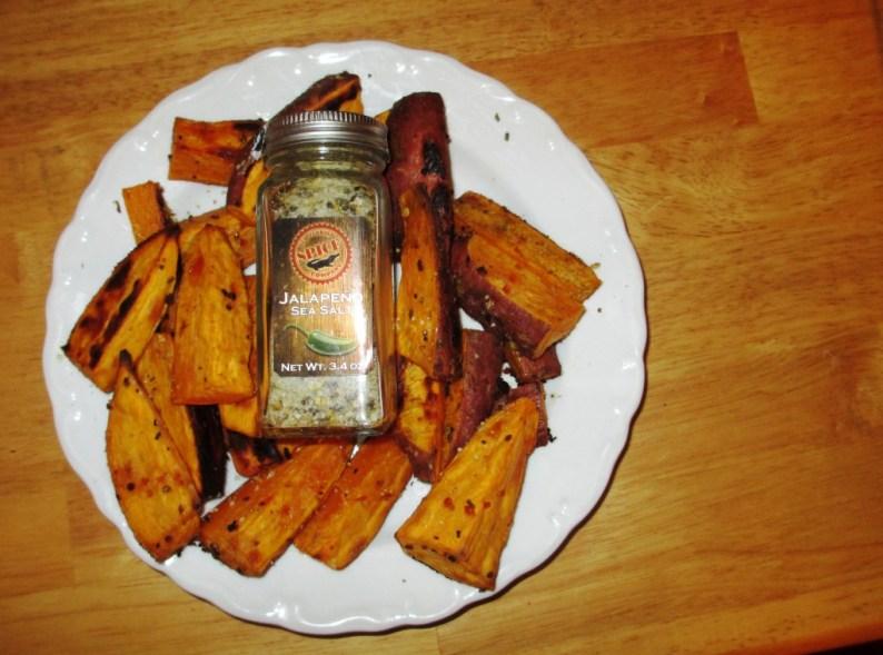 Sweet Potato Fries with the Jalapeno Sea Salt