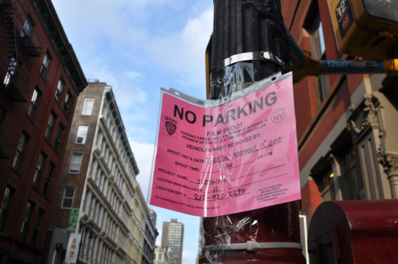 Filming Permit as Seen During On Location Tours TMZ Tours NYC, Nov. 2014