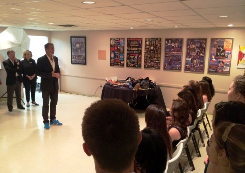 Dan Buettner Discusses Blue Zones with Sarasota-Area Students During His Feb. 2015 Visit to Sarasota, Fla.
