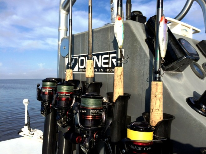 Some of the Tools for a Day of Fishing with Capt. Rhett Morris of Beyond Borders Outfitters from Punta Gorda, Fla.