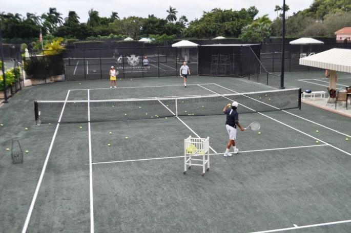 Erik Silver, Director of Tennis, Serves Up a Lesson at the Boca Raton Resort & Club, Boca Raton, Fla., Nov. 15, 2015