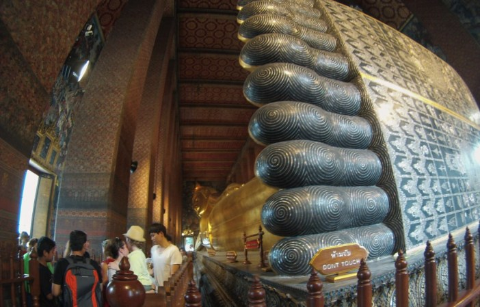 Bangkok's Wat Pho is home to the Reclining Buddha, March 2015.