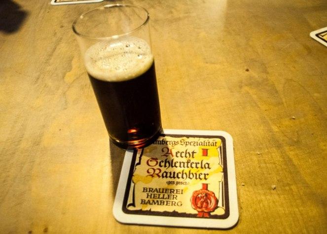 Rauchbier, or Smokebeer, Tastes Like Bacon But Isn't Everyone's Cup of Tea, Bamberg, Germany.