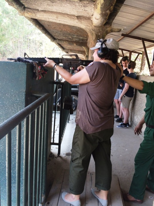 That's Me Firing an M16 at the Cu Chi Tunnels Near Ho Chi Minh City, Vietnam, April 2016.