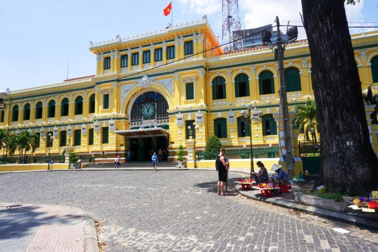 Saigon Central Post Office Was Built in the Late 19th Century. Ho Chi Minh City, Vietnam, April 2016.