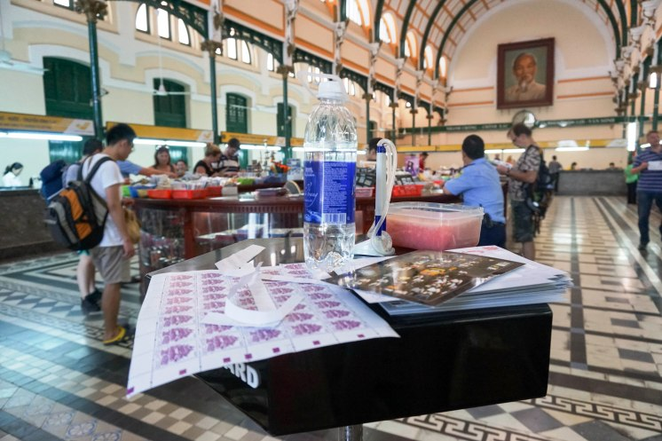 My Postcard Spectacle in the Historic Saigon Post Office in Ho Chi Minh City, Vietnam, April 2016