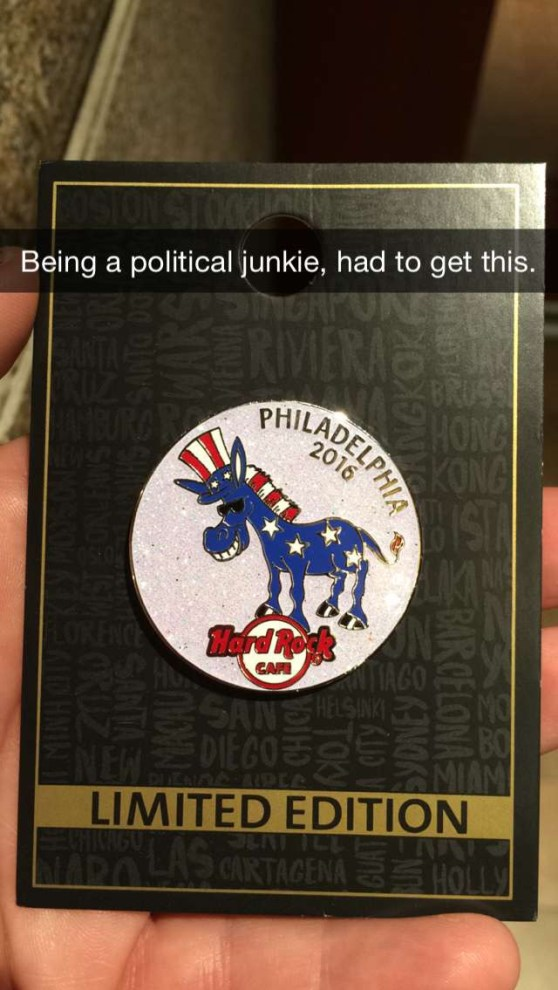 During the DNC Convention in Philadelphia, It Should Be Easy to Find Political Pins, Buttons and Other Souvenirs.