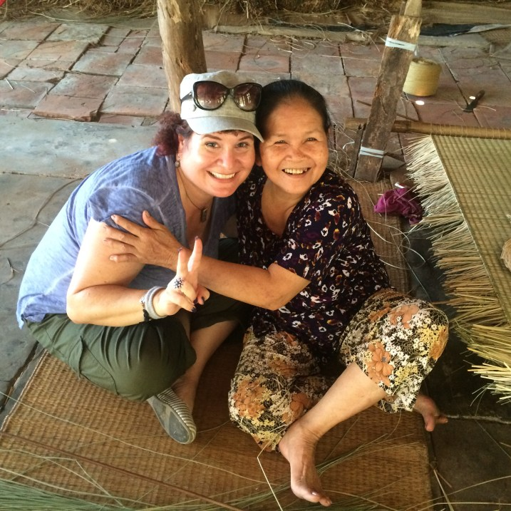 This is the Sweet Woman in the Mekong Delta Who Made the Vietnamese Hat I Brought Back.