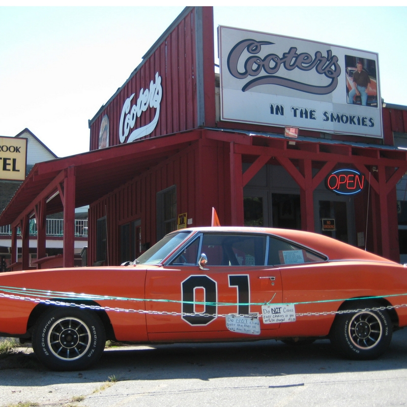 See the General Lee at Cooter's,a Nostaligic Gatlinburg Attraction