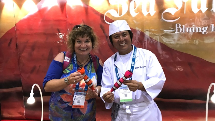 On the ICAST Floor - I Was Very Excited to See These Bluing Hearts Sea Falcon Lures - They're Made in Hamamatsu, Japan, Where I Spent a Week in Oct. 2004.
