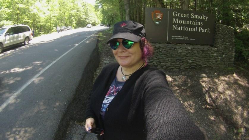 Selfie in Great Smokey Mountains National Park, Tenn.