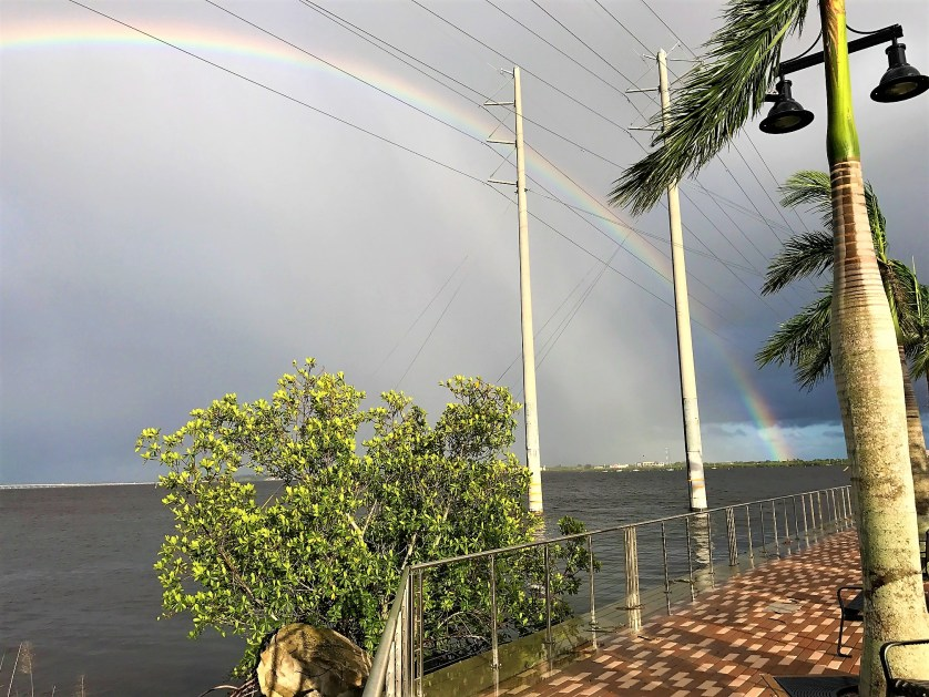 Rainbow Over the Peace River in Charlotte Harbor, Fla., on Sept. 11, 2017, the Day After Hurricane Irma.