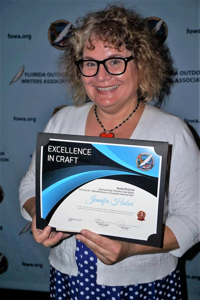 Solo Travel Girl's Adventures Near & Far Took Third Place in the Radio/Podcast Category During the Excellence in Craft Award During the Florida Outdoor Writers Association Annual Conference in Sept. 2018. Image Credit: Rick Davidson