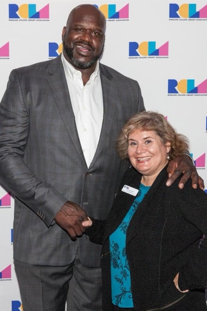 That's Me with Shaquille O'Neal Following his Talk During the Ringling College Library Association Lecture Series in Sarasota. What a Nice, Funny, Kind Person.