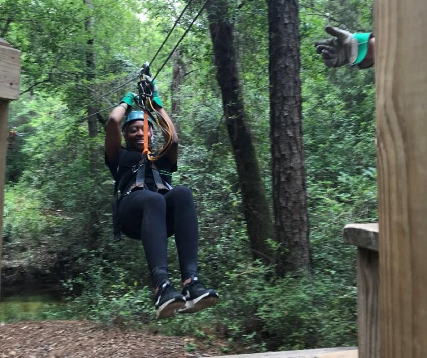 Ziplining at Adventures Unlimited Outdoor Center in Milton, Fla.