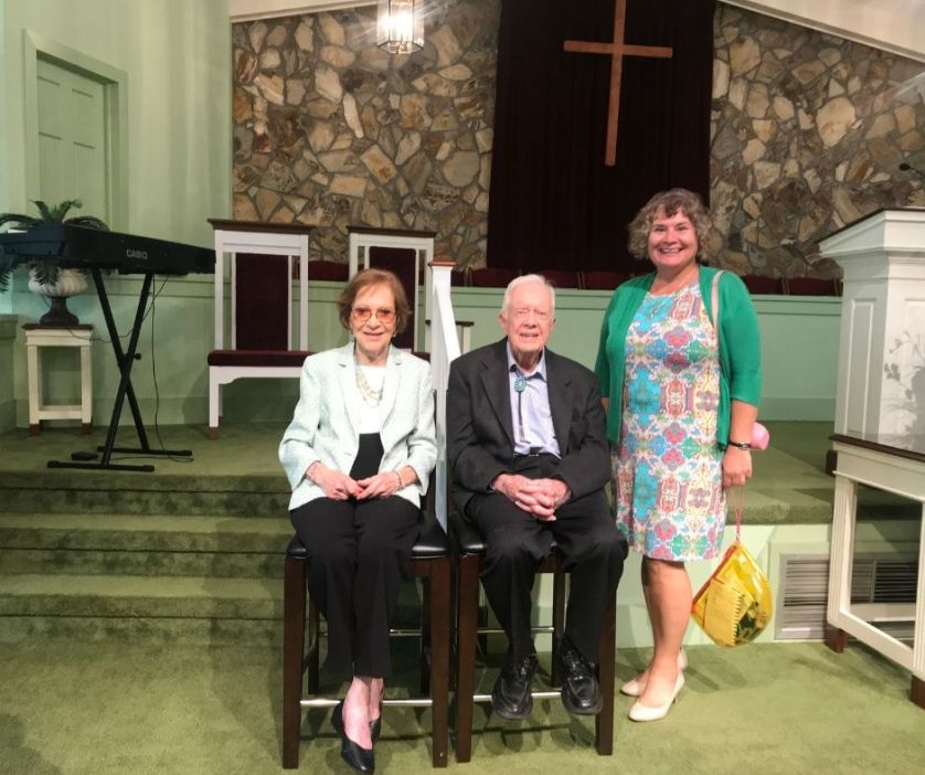 That's Me! With First Lady Rosalynn Carter and President Jimmy Carter, Plains, Ga., June 23, 2019.