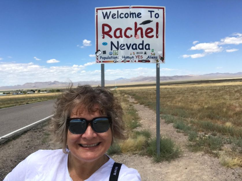 Rachel, Nevada. Population: Human: Yes. Alien: ? July 2019.