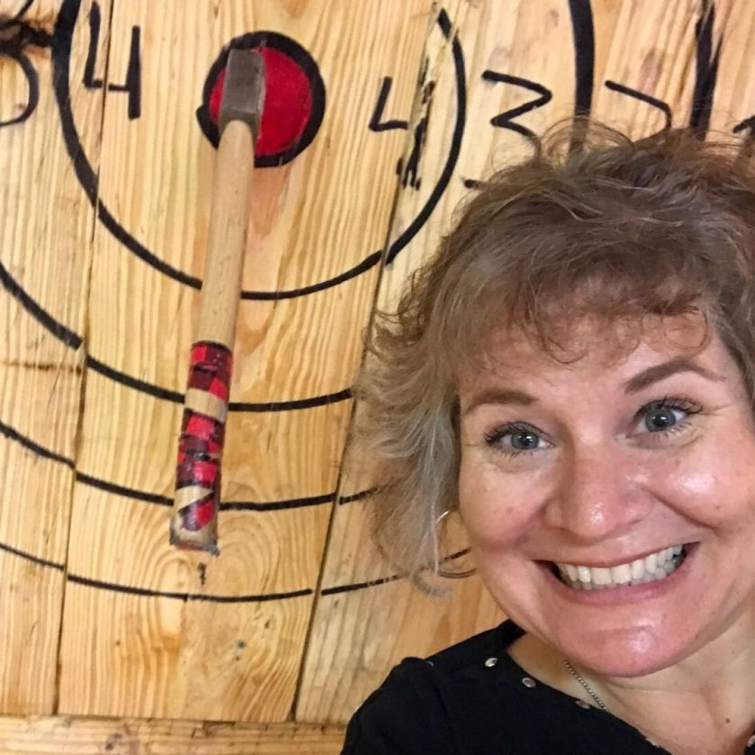 That's Me! With My First Bullseye! Threw it at The Axe Haus in North Port, Fla.