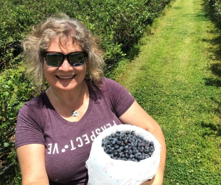 Me with My U-Pick Blueberry Haul!