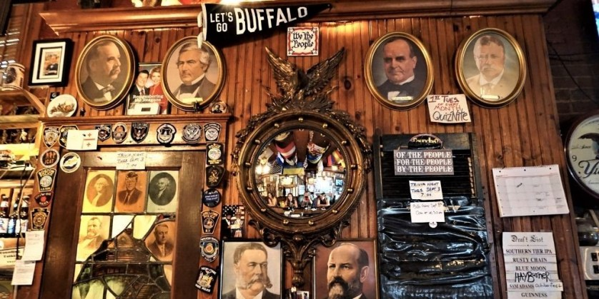 View from the Bar at Founding Fathers Pub, Buffalo, N.Y.
