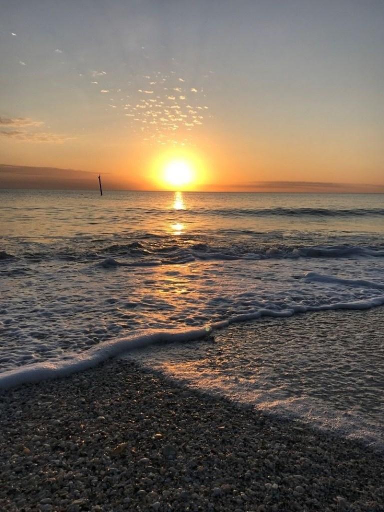 Sunset at Englewood Beach on Manasota Key, Fla.