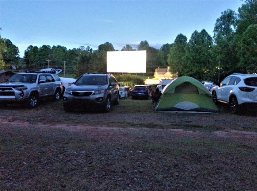 HipCamp Stay in North Georgia at the Tiger Drive-In Theater