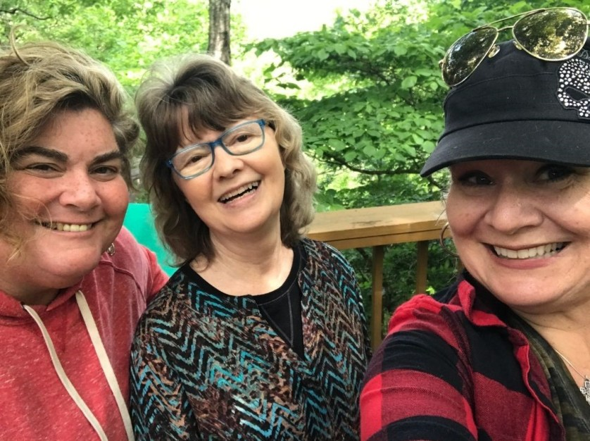 Janet, Mary and Me in Clayton, Ga., May 2021.