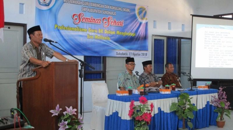 Musyawarah Guru Bimbingan dan Konseling (MGBK) SMP Kabupaten Sukoharjo