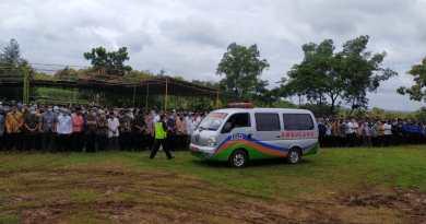 pemakaman Ketua Umum MTA Pusat Ustadz Ahmad Sukino di Mojogedang Karanganyar