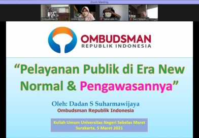 Ombudsman Gelar Kuliah Umum Mahasiswa UNS Secara Daring