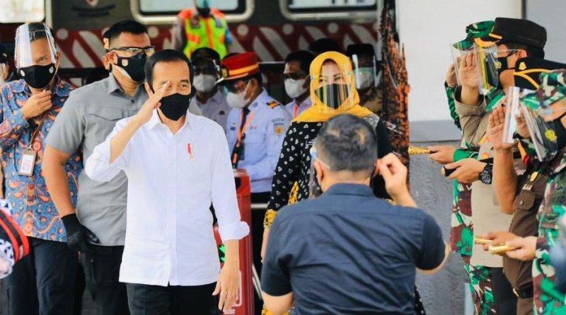 Presiden Joko Widodo Resmikan Pengoperasian KRL Rute Yogyakarta-Solo