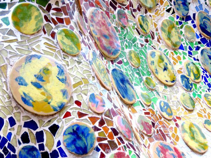 Gaudis Casa Batllo  Trencadis Ceramic Tile Mosaics   Solo Trips And Tips