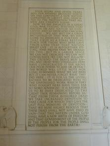 The Gettysburg Address in the South Chamber