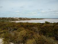 a view of the salt ponds East of the town