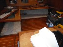 notice where floor is tabbed into the hull beneath the settee