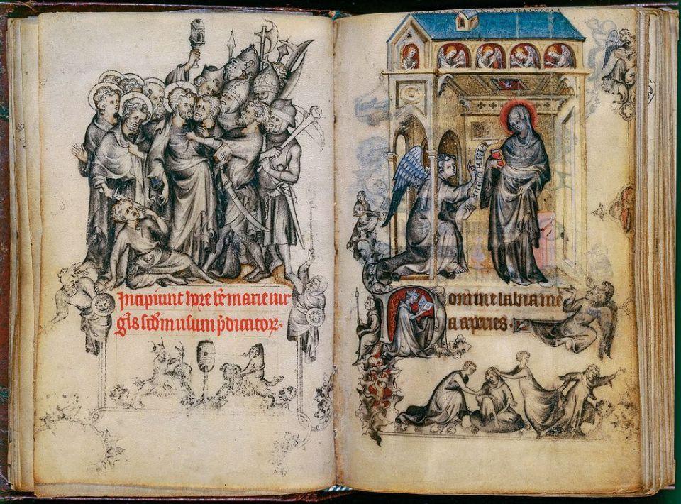 Enluminures du manuscrit de Pucelle, Les heures de Jeanne d'Évreux
