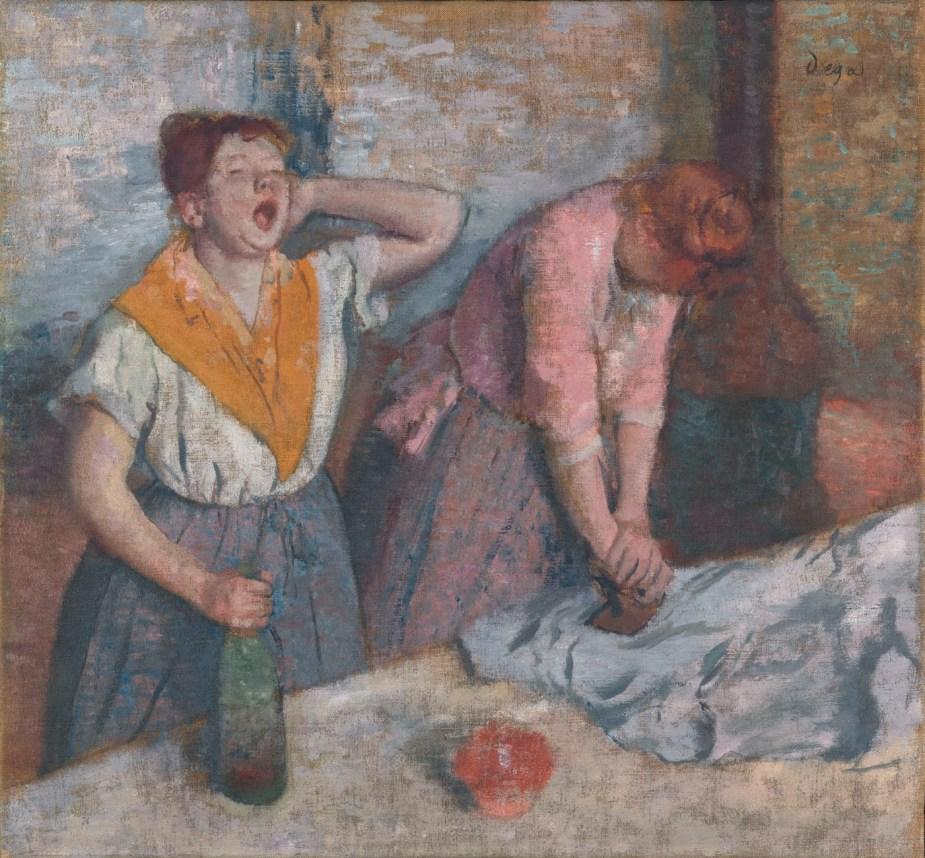 Tableau de Degas, Les repasseuses, vers 1884-1886