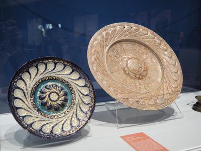 """Exposition """"Regards sur la vie quotidienne' du musée de Cluny - cuivre émaillés art hispano-mauresque"""