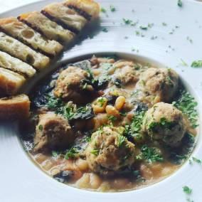 Lamb Meatball Soup