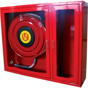 Противопожарна касета в комплект с пожарен кран и пожарогасител
