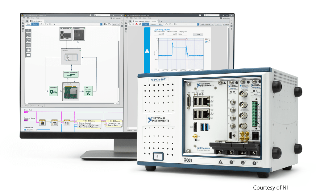 NI PXI instrument and related software