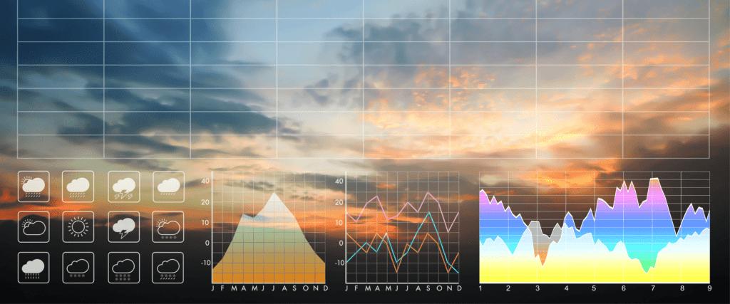 Radar monitoring meteorological data