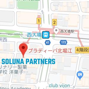 株式会社ソルナパートナーズ本社地図
