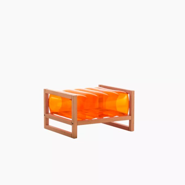 Revendeur de Mojow solution design fr mobilier assises fauteuil Yoko wood orange cristal
