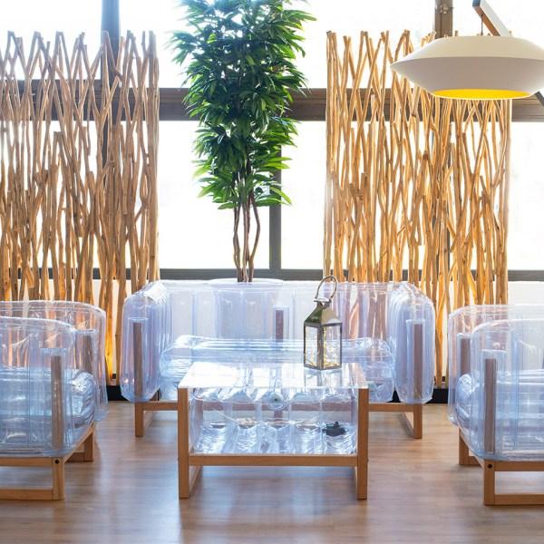 Revendeur de Mojow solution design fr mobilier assises fauteuil yomi wood transparent