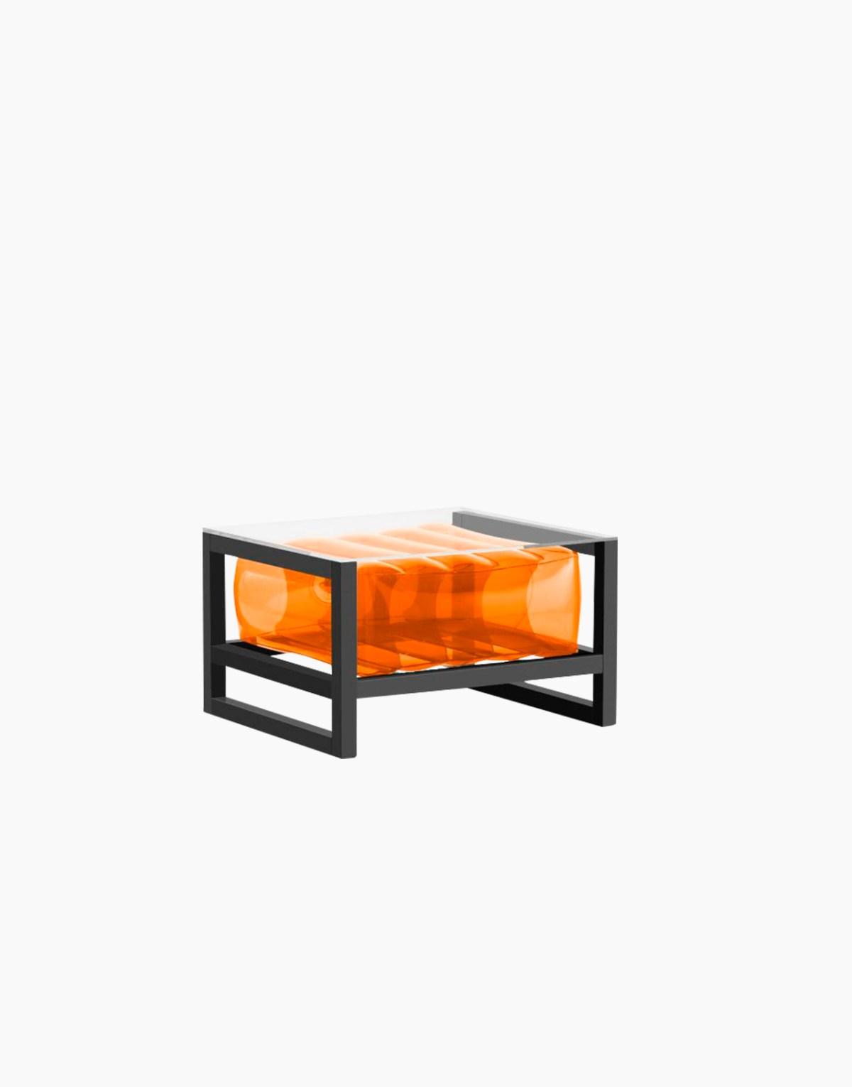 Revendeur de Mojow solution design fr mobilier table basse Yoko blanc orange cristal